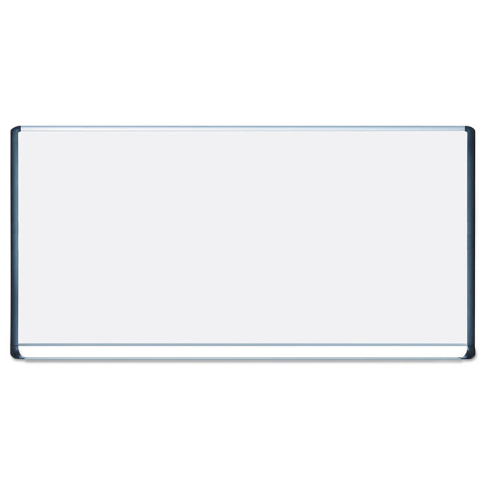 Porcelain Magnetic Dry Erase Board, 48x96, White/Silver