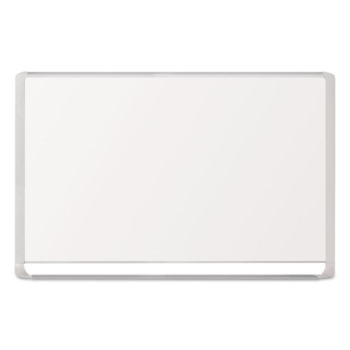 Lacquered steel magnetic dry erase board, 48 x 72, Silver/White