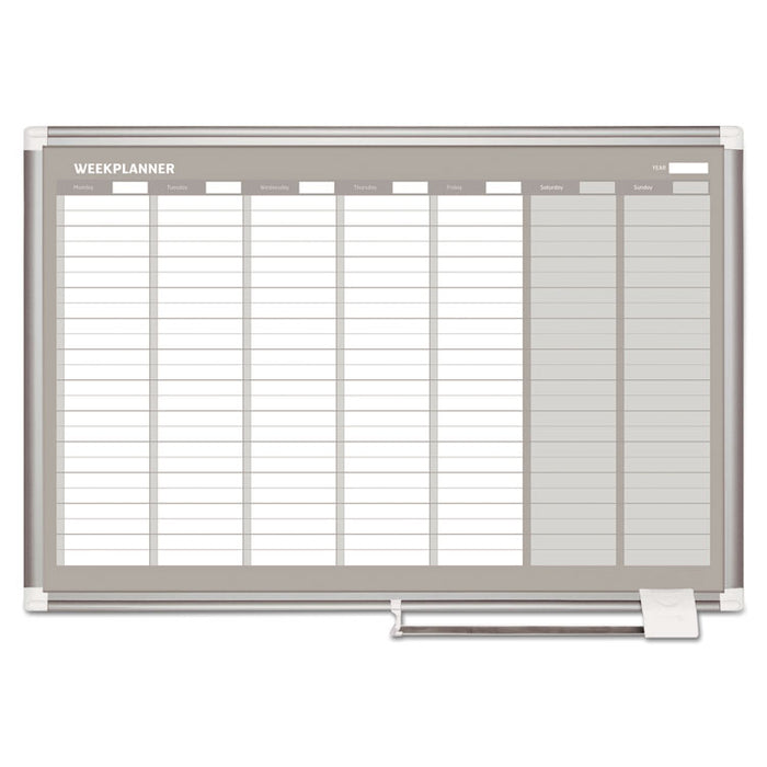 Weekly Planner, 36x24, Aluminum Frame