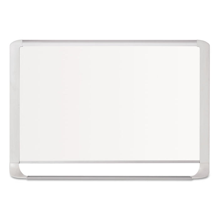 Lacquered steel magnetic dry erase board, 36 x 48, Silver/White