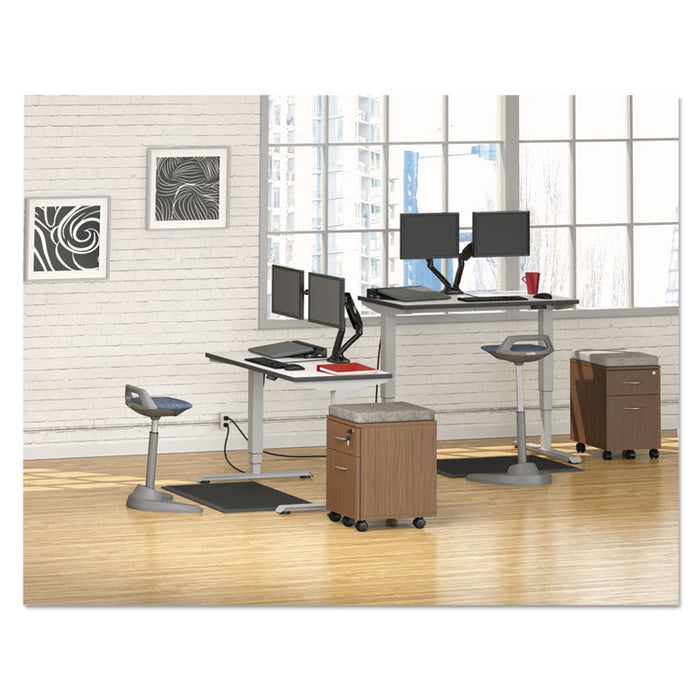 "AdaptivErgo 3-Stage Electric Table Base w/Memory Controls, 25"" to 50.7"", Gray"