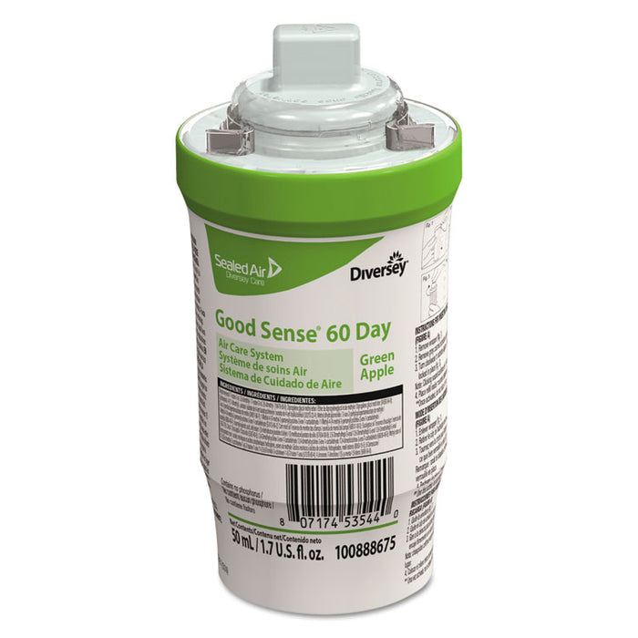 Good Sense 60-Day Air Care System, Green Apple Scent, 1.7 oz, 6/Carton