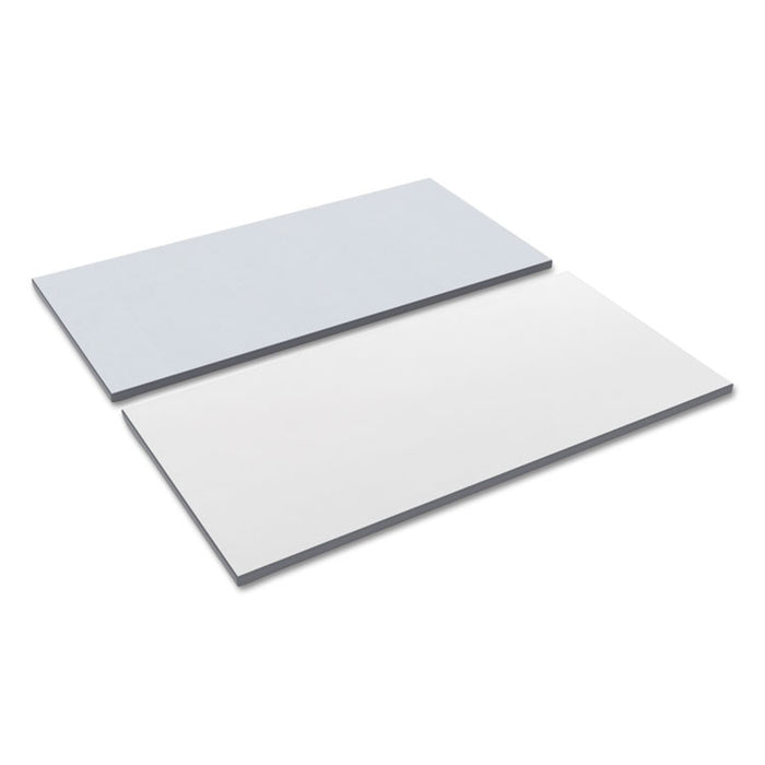 Reversible Laminate Table Top, Rectangular, 59 3/8w x 23 5/8d, White/Gray
