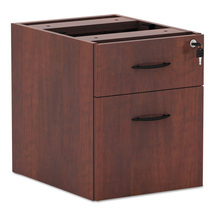 Alera Valencia Series 3/4 Box/File Pedestal, 15.63w x 20.5d x 19.25h, Medium Cherry