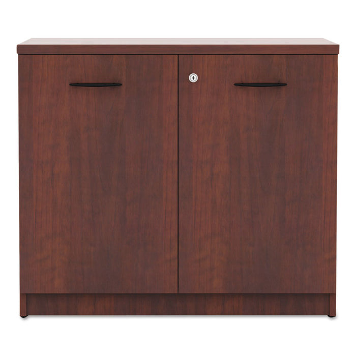 Alera Valencia Series Storage Cabinet, 34 1/8w x 22 7/8d x 29 1/2h, Medium Cherry