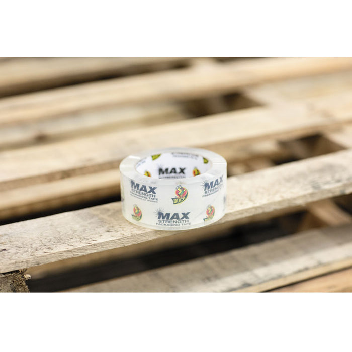 "MAX Packaging Tape, 3"" Core, 1.88"" x 54.6 yds, Crystal Clear, 6/Pack"
