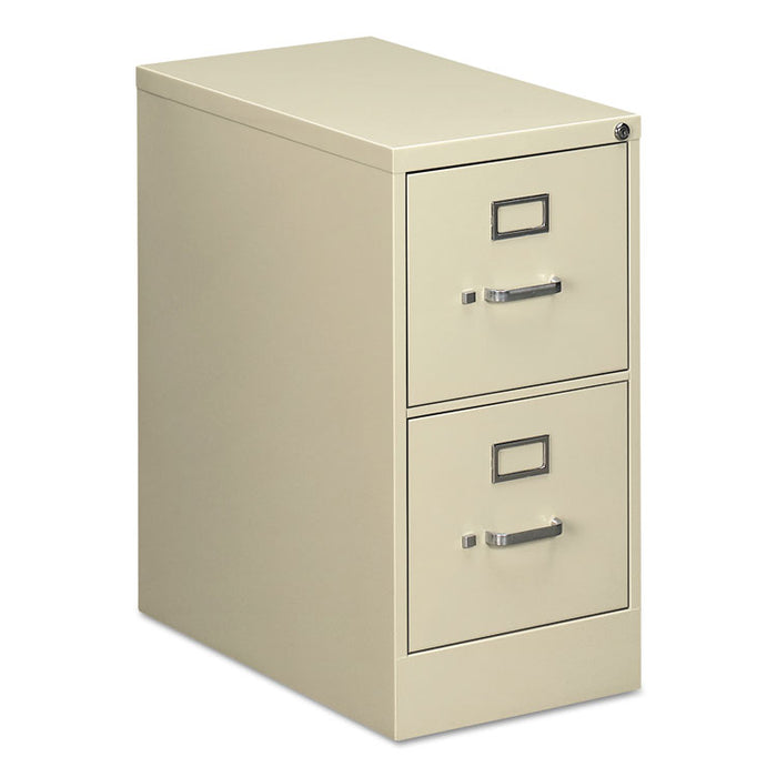 Two-Drawer Economy Vertical File Cabinet, Letter, 15w x 25d x 29h, Putty