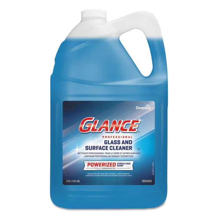 Glance Powerized Glass & Surface Cleaner, Liquid, 1 gal, 2/Carton