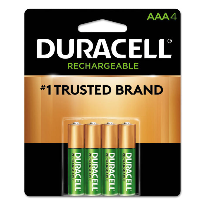 Rechargeable StayCharged NiMH Batteries, AAA, 4/Pack