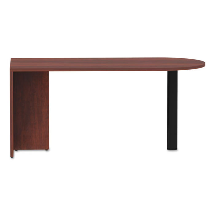 Alera Valencia Series D-Top Desk, 65w x 29.5d x 29.5h, Medium Cherry