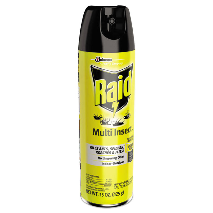 Multi Insect Killer, 15 oz Aerosol Can, 12/Carton