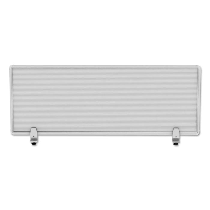 Polycarbonate Privacy Panel, 47w x 0.50d x 18h, Silver/Clear