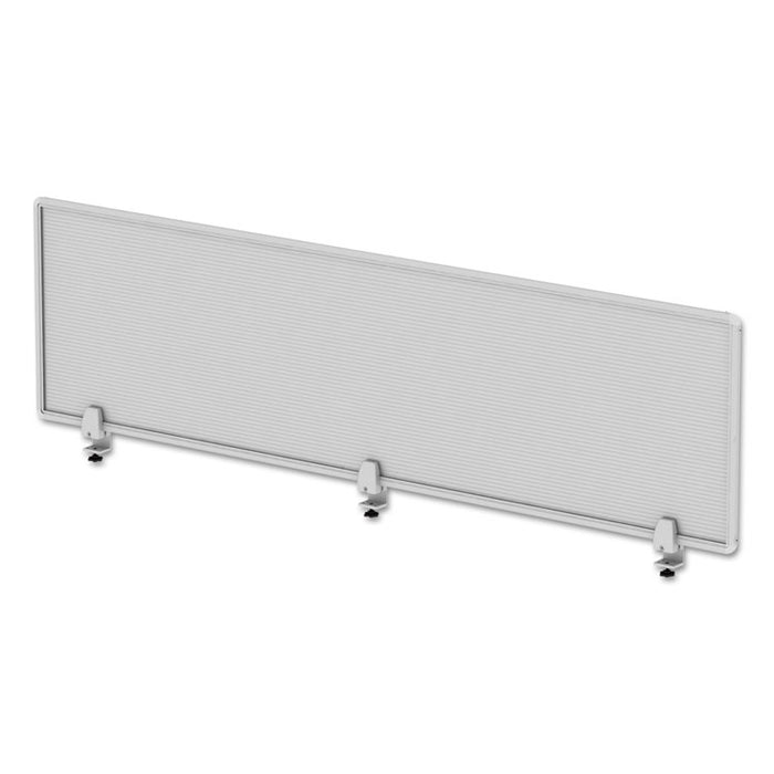 Polycarbonate Privacy Panel, 65w x 0.50d x 18h, Silver/Clear