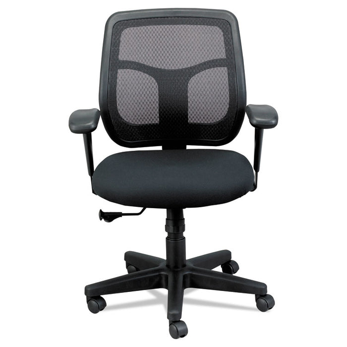 Apollo Mid-Back Mesh Chair, Black Seat/Black Back, Black Base