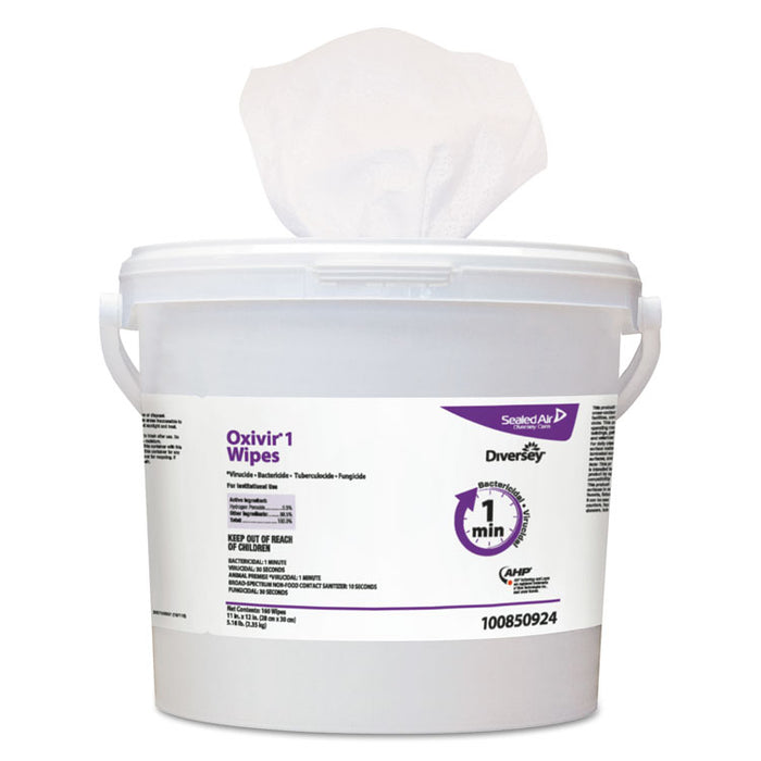 "Oxivir 1 Wipes, 11"" x 12"", 160/Canister, 4/Carton"