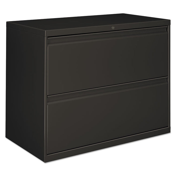 Two-Drawer Lateral File Cabinet, 36w x 18d x 28h, Charcoal