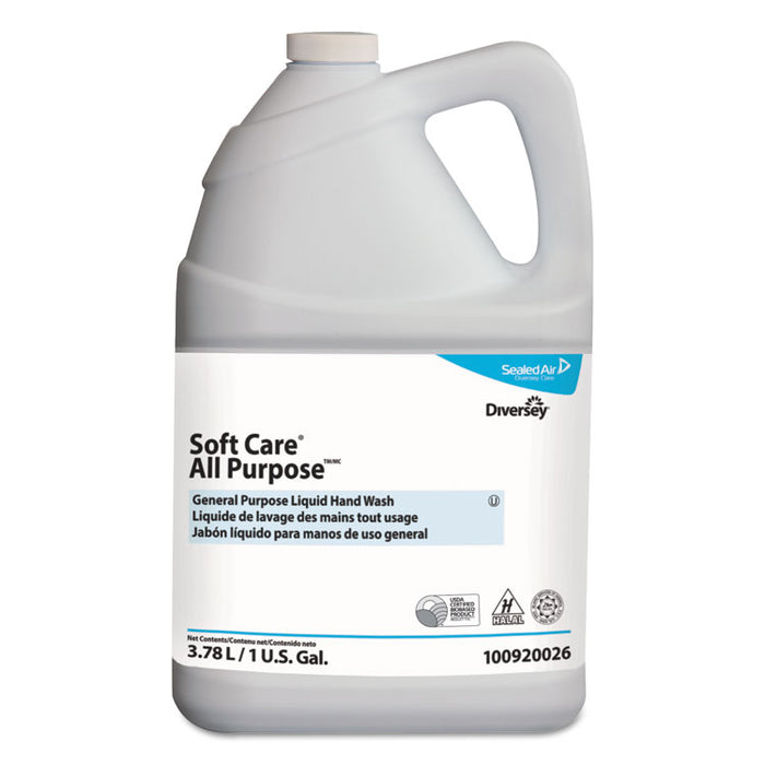 Soft Care All Purpose Liquid, Gentle Floral, 1 gal Bottle, 4/Carton