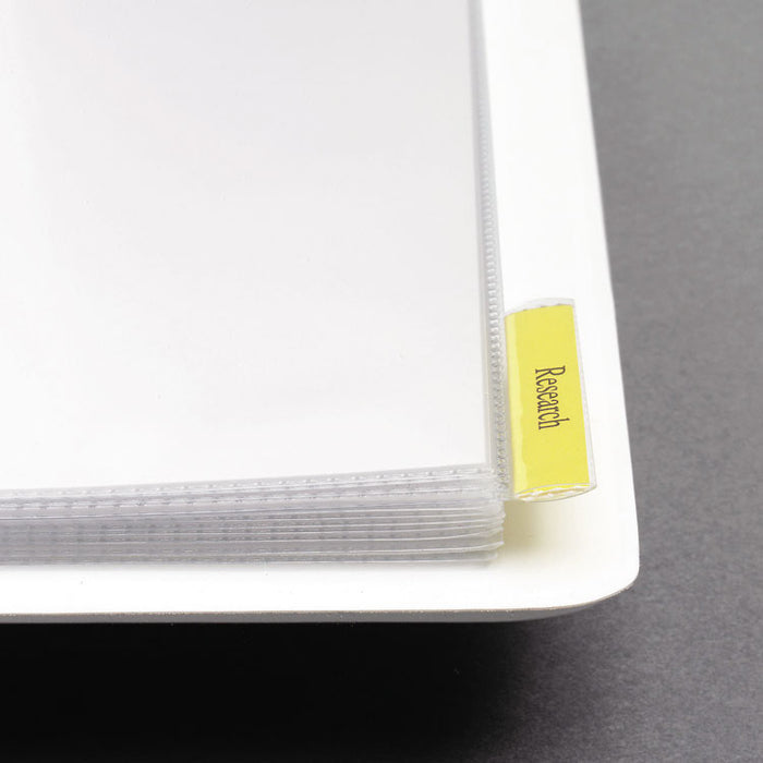"Heavy-Duty View Binder with DuraHinge, One Touch EZD Rings and Extra-Wide Cover, 3 Rings, 1.5"" Capacity, 11 x 8.5, White"