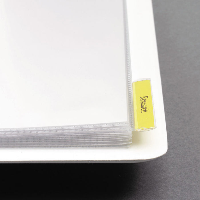"Heavy-Duty View Binder with DuraHinge, One Touch EZD Rings and Extra-Wide Cover, 3 Rings, 1"" Capacity, 11 x 8.5, White"