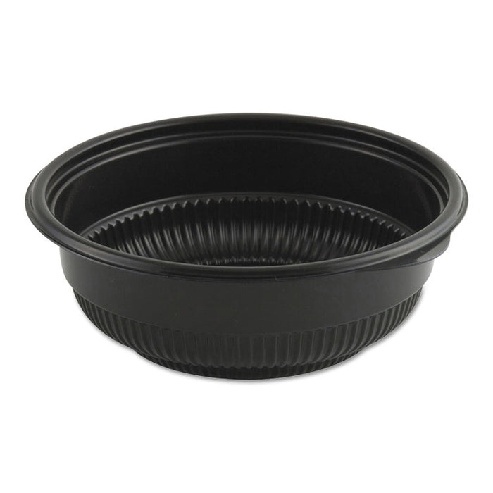 "MicroRaves Incredi-Bowl Base, 12 oz, 5.75"" dia x 2.02""h, Black, 250/Carton"