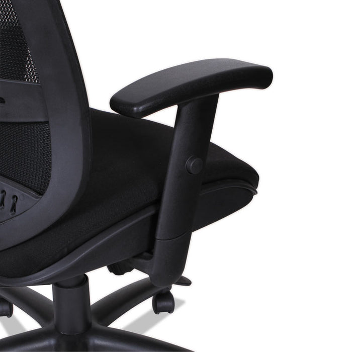 Alera Eon Series Multifunction Mid-Back Cushioned Mesh Chair, Supports up to 275 lbs., Black Seat/Black Back, Black Base