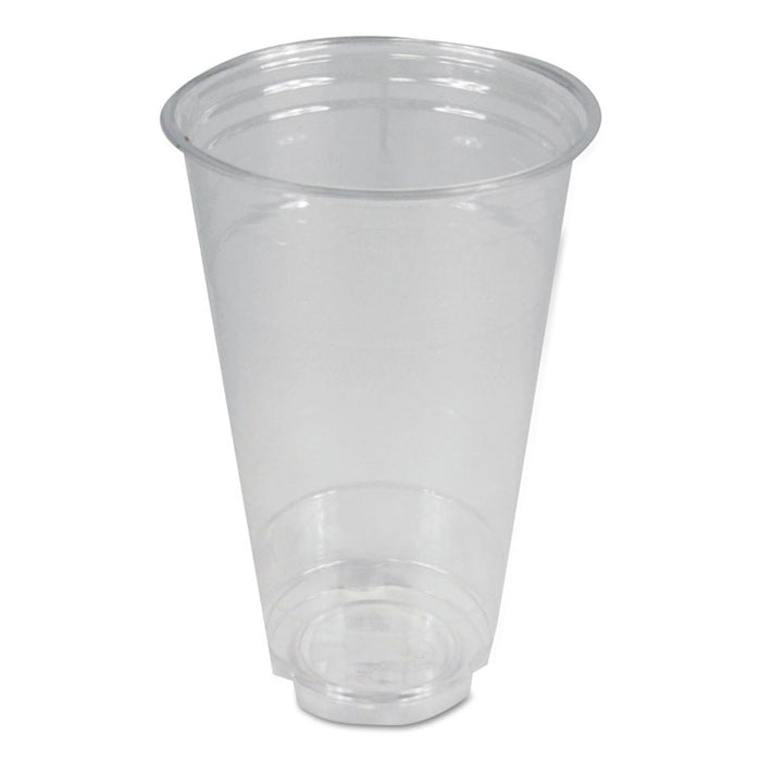 Clear Plastic Cold Cups, 24 oz, PET, 12 Cups/Sleeve, 50 Sleeves/Carton