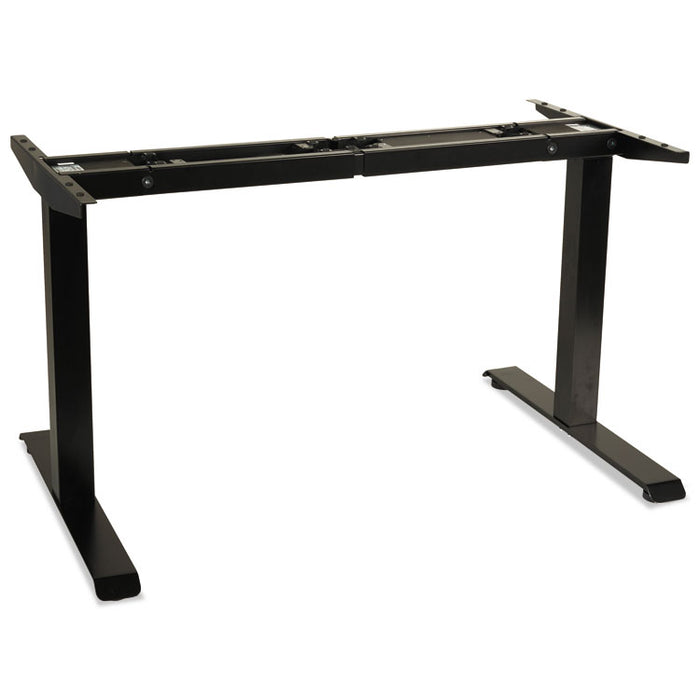 "2-Stage Electric Adjustable Table Base, 27.5"" to 47.2"" High, Black"
