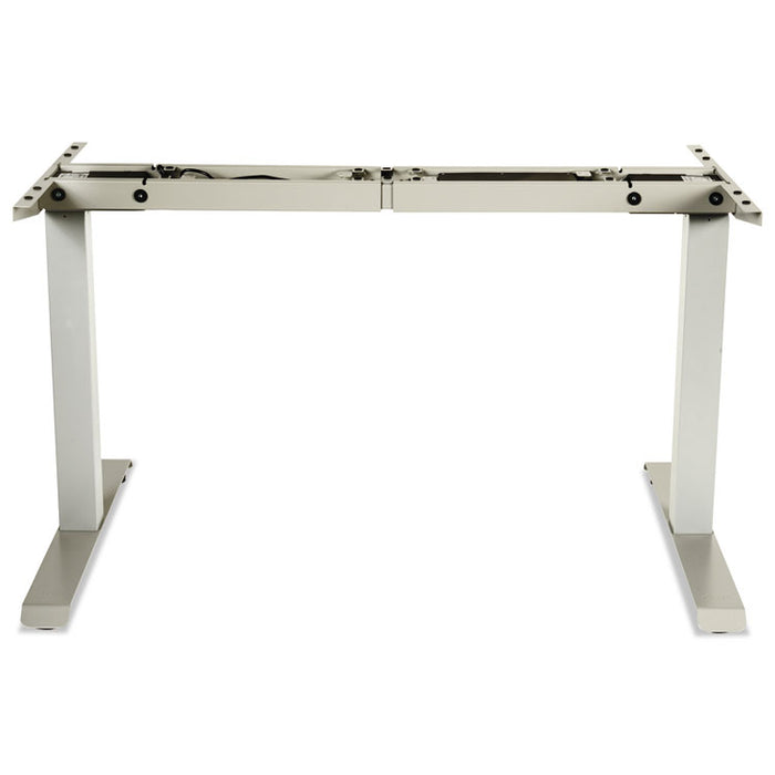 "2-Stage Electric Adjustable Table Base, 27.5"" to 47.2"" High, Gray"