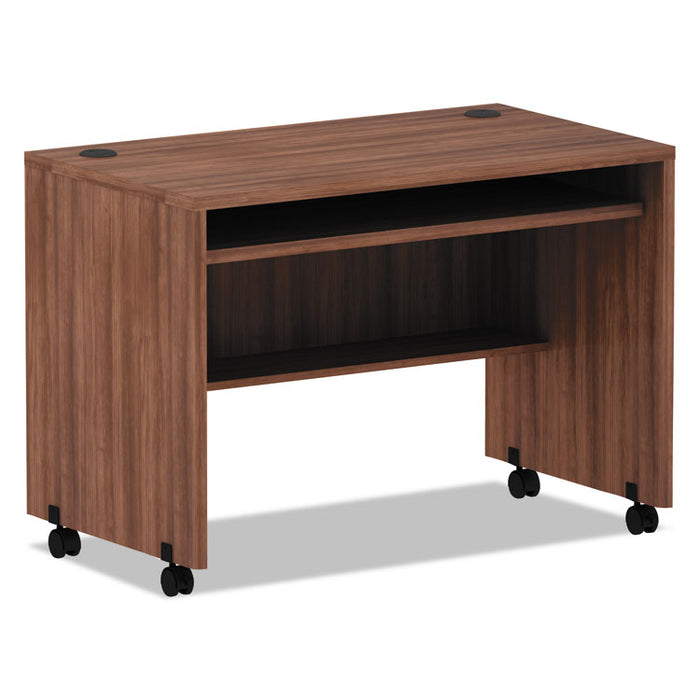 Alera Valencia Series Mobile Workstation Desk, 41.38w x 23.63d x 30h, Modern Walnut