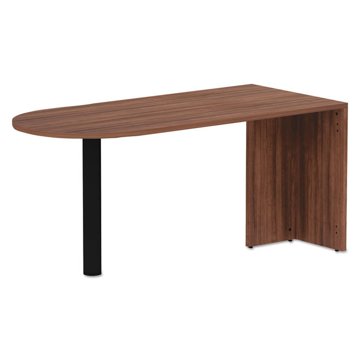 Alera Valencia Series D-Top Desk, 65w x 29.53d x 29.53h, Modern Walnut