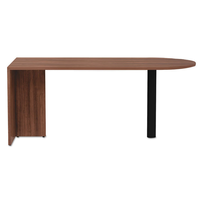 Alera Valencia Series D-Top Desk, 71w x 29.5d x 29.5h, Modern Walnut