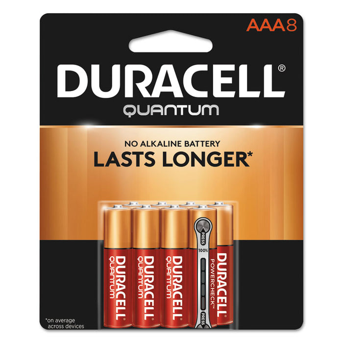 Quantum Alkaline AAA Batteries, 8/Pack