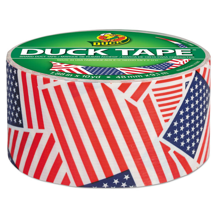 "Colored Duct Tape, 3"" Core, 1.88"" x 10 yds, Red/White/Blue US Flag"