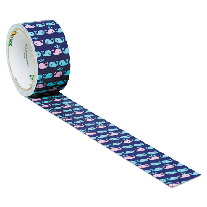 "Colored Duct Tape, 3"" Core, 1.88"" x 10 yds, Blue/Pink Whale of Time"