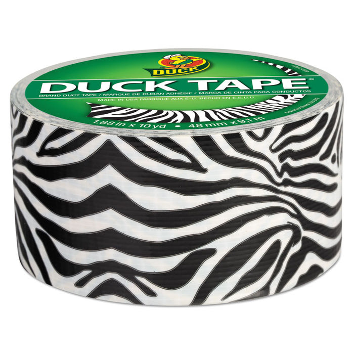 "Colored Duct Tape, 3"" Core, 1.88"" x 10 yds, Black/White Zebra"