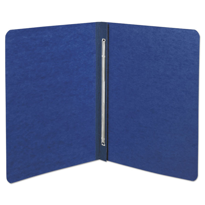"Presstex Report Cover, Side Bound, Prong Clip, Letter, 3"" Cap, Dark Blue"