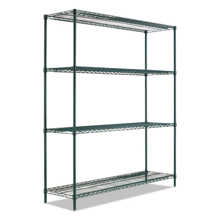"BA Plus Wire Shelving Kit, 4 Shelves, 72"" x 24"" x 72"", Black Anthracite Plus"