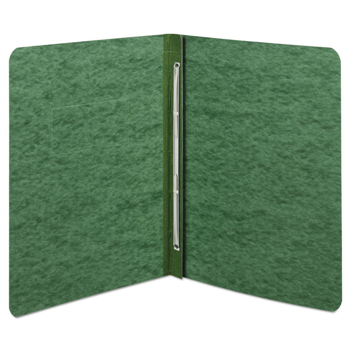 "Pressboard Report Cover, Prong Clip, Letter, 3"" Capacity, Dark Green"