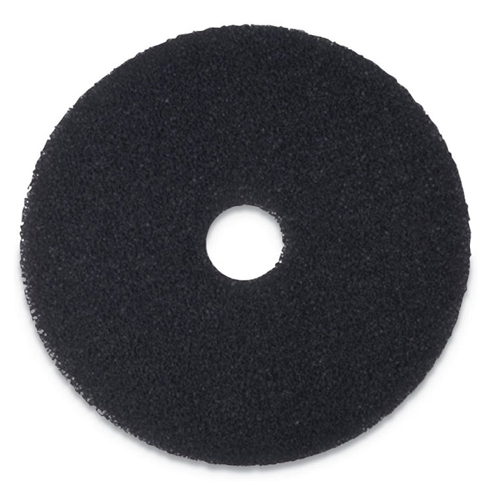 "Stripping Floor Pads, 19"" Diameter, Black, 5/Carton"