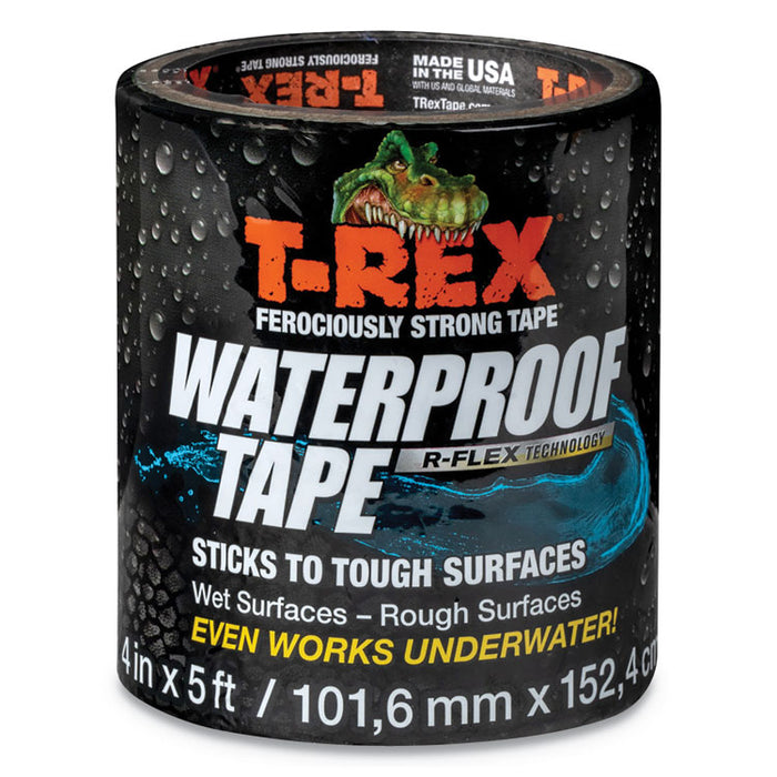 "Waterproof Tape, 3"" Core, 4"" x 5 ft, Black"