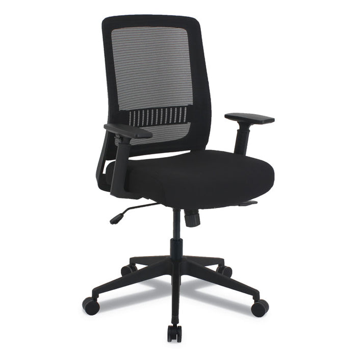 Alera EY Series Multifunction Chair, Supports up to 275 lbs., Black Seat/Black Back, Black Base