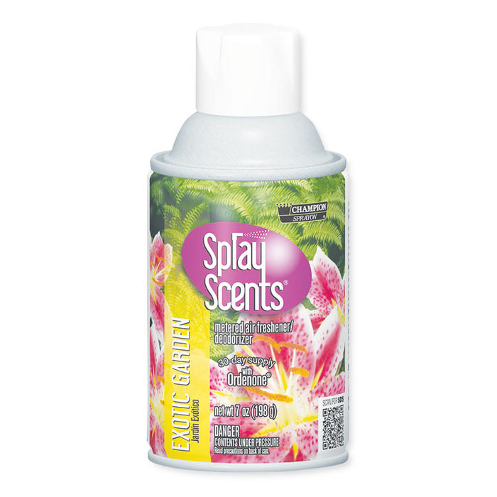 Sprayscents Metered Air Fresheners, Exotic Garden Scent, 7 oz, 12/Carton