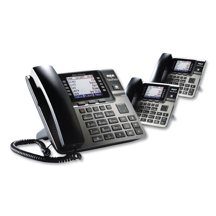 Unison 1-4 Line Wireless Phone System Bundle, 2 Additional Deskphones