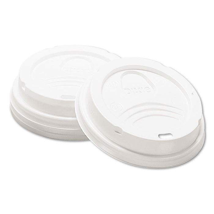 Drink-Thru Lid, Fits 8oz Hot Drink Cups, White, 1000/Carton