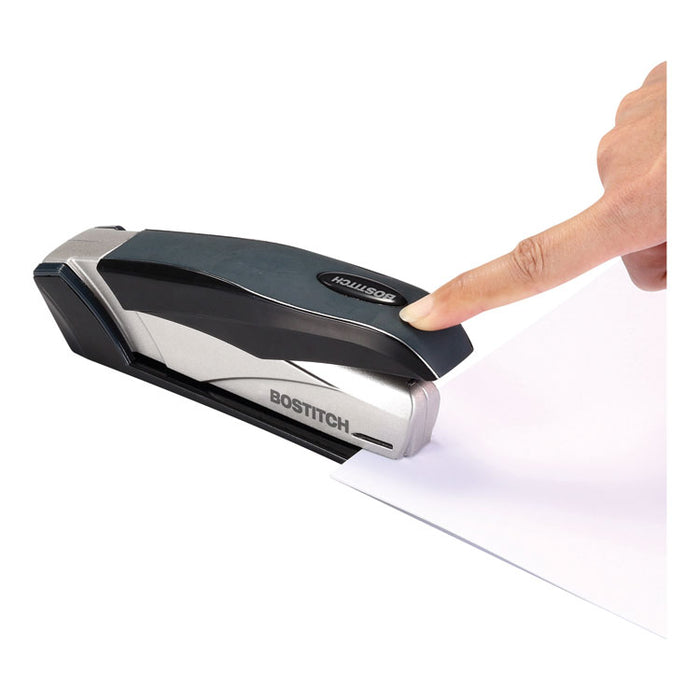 inFLUENCE+ 28 Premium Desktop Stapler, 28-Sheet Capacity, Black/Silver