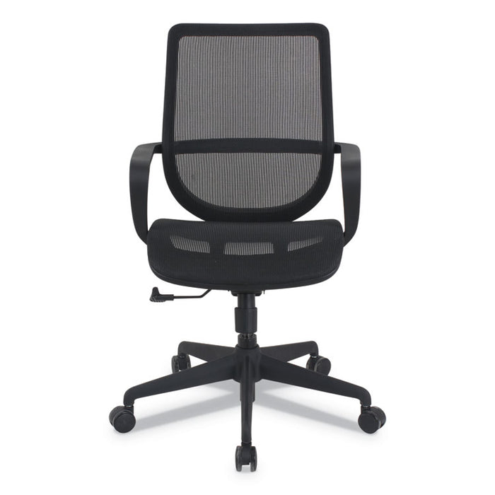 Alera Macklin Series Mid-Back All-Mesh Office Chair, Up to 275 lbs., Black Seat/Back, Black Base