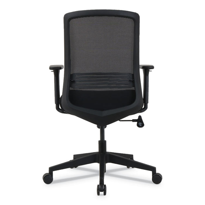 kathy ireland OFFICE by Alera Resolute Series Mesh Office Chair, Supports up to 275 lbs., Black Seat/Back, Black Base
