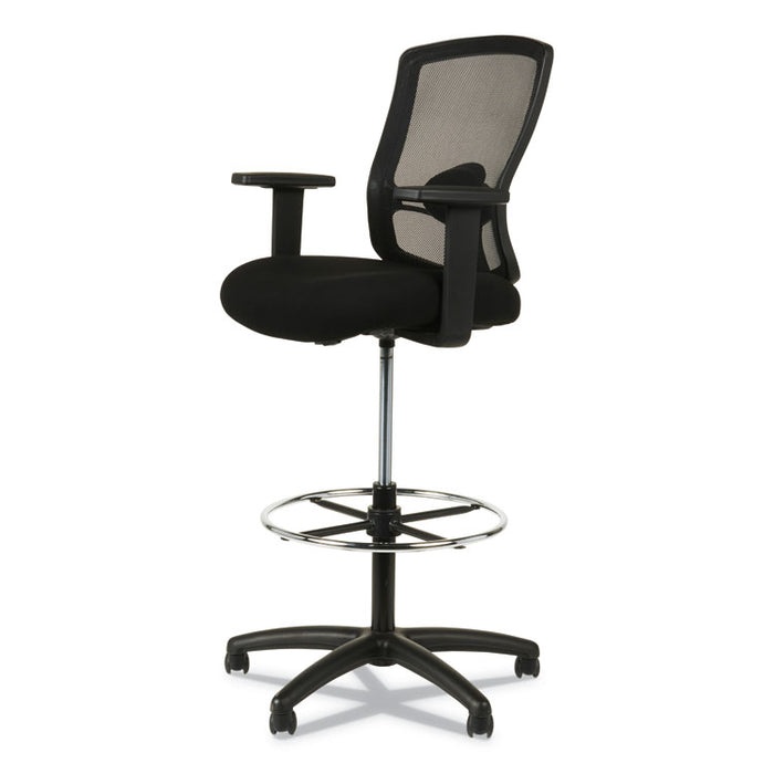 "Alera Etros Series Mesh Stool, 36.13"" Seat Height, Supports up to 275 lbs., Black Seat/Black Back, Black Base"