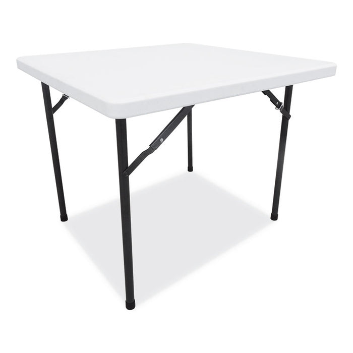 Square Plastic Folding Table, 36w x 36d x 29 1/4h, White