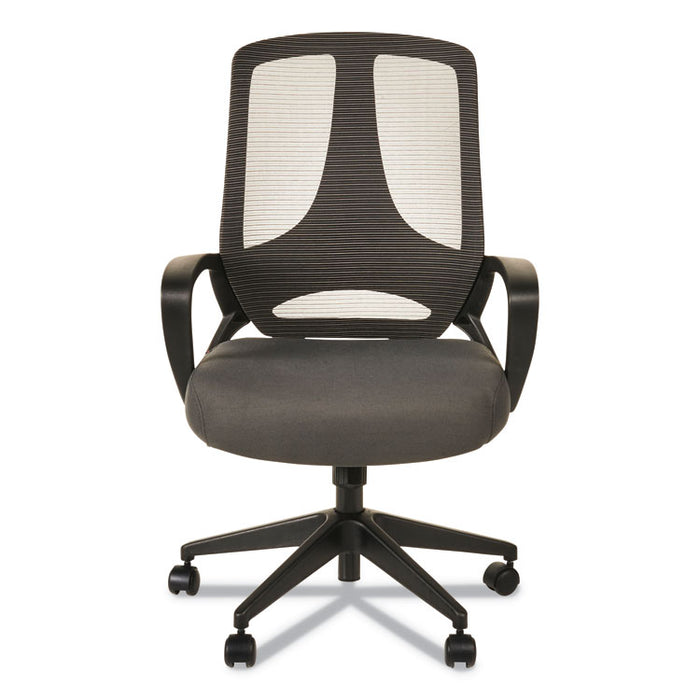 Alera MB Series Mesh Mid-Back Office Chair, Supports up to 275 lbs., Gray Seat/Black Back, Black Base